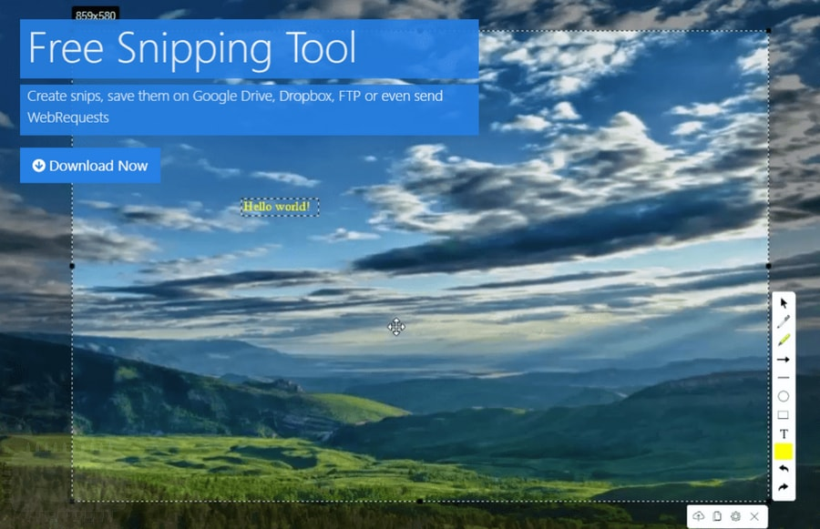Free Snipping Tool - outil de snipping qui aime bien partager