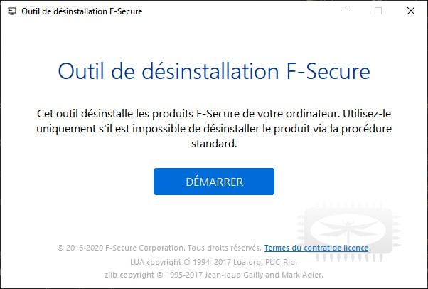 Supprimer F-Secure