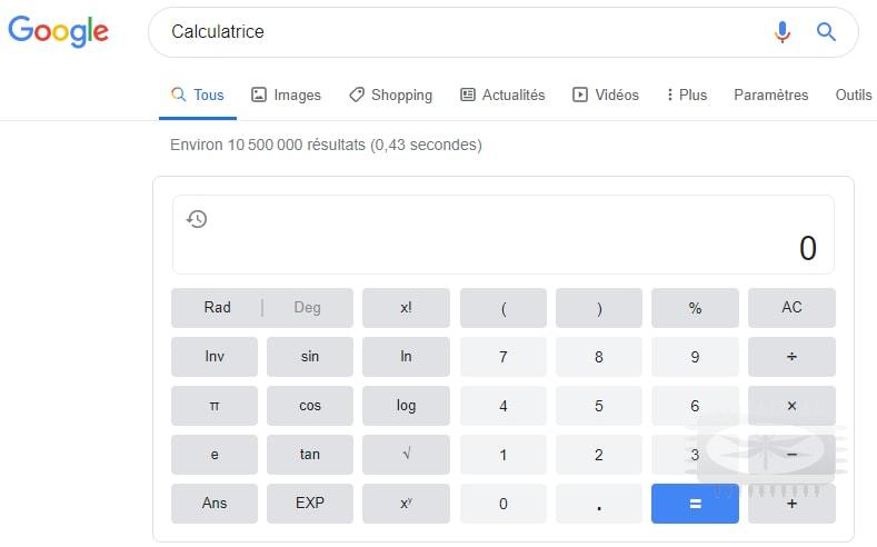Servez-vous de Google comme calculatrice