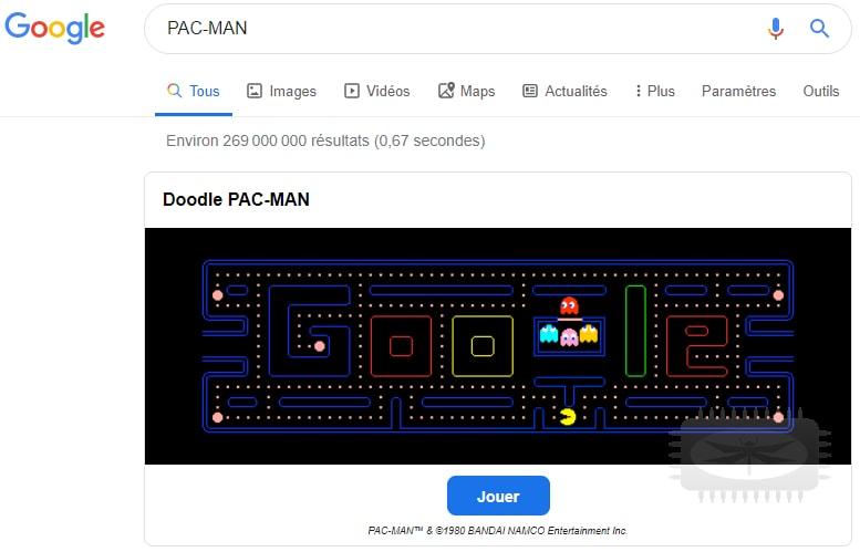 Jouez à des jeux depuis Google