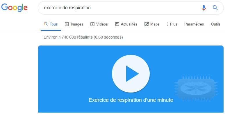 Google pour vous détendre, pour lutter contre le stress