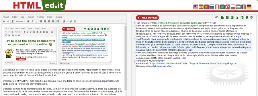 Html Edit Un éditeur De Code En Ligne Portail