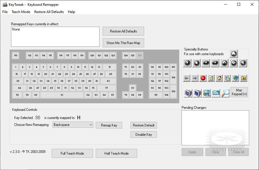 KeyTweak - gestionnaire de touches clavier
