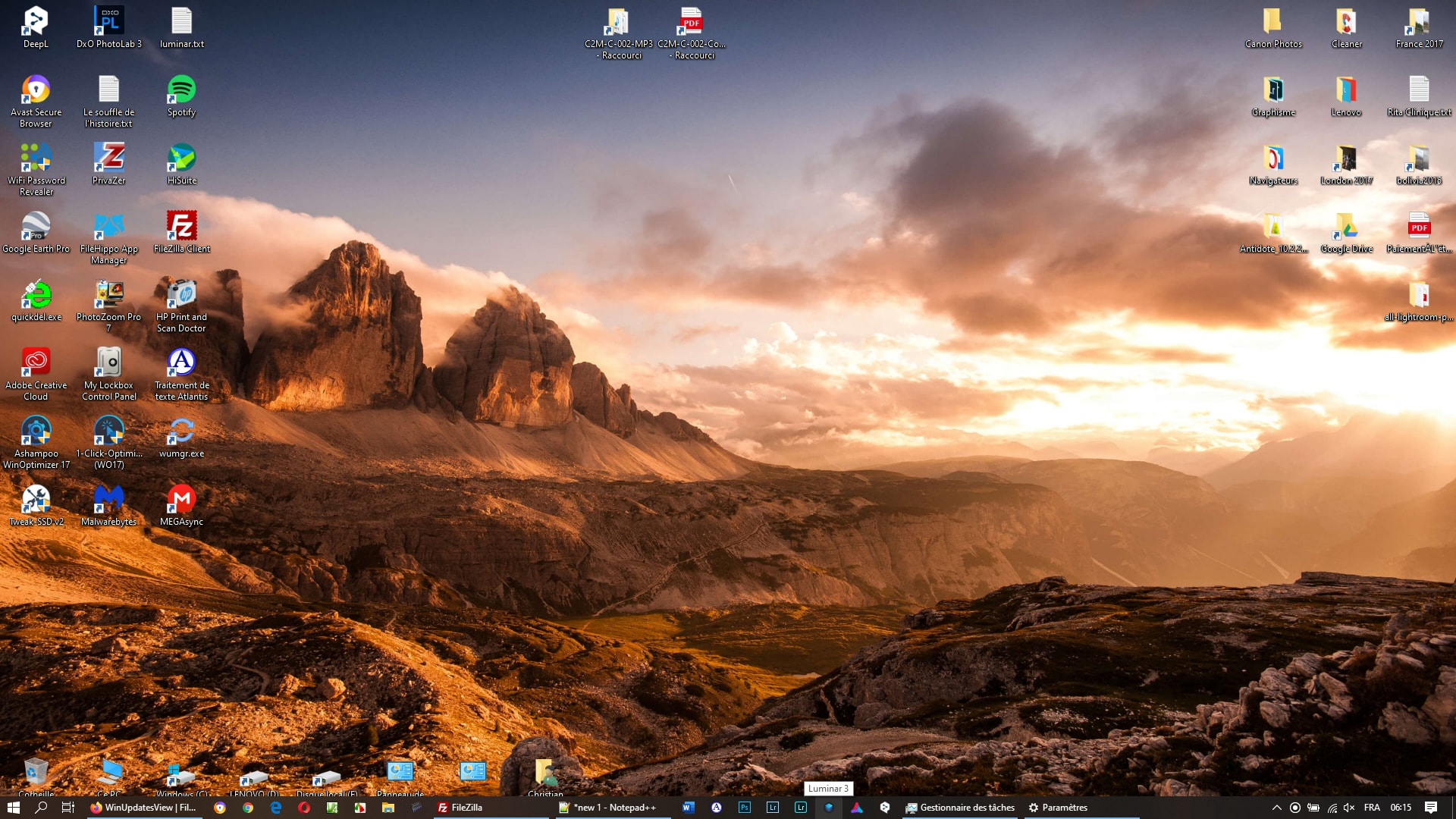 Thème pour Windows 10 - Mountain Light Premium