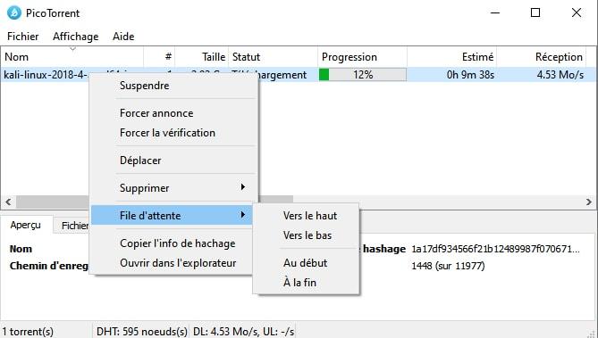PicoTorrent - petit client BitTorrent vraiment minuscule