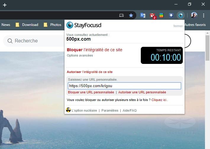 StayFocusd augmente votre productivité en limitant le temps que vous passez sur des sites Web