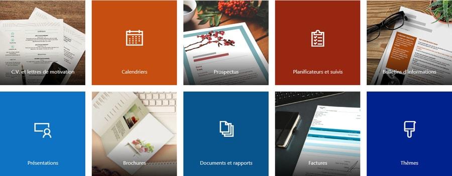 Modèles et thèmes pour Office 365