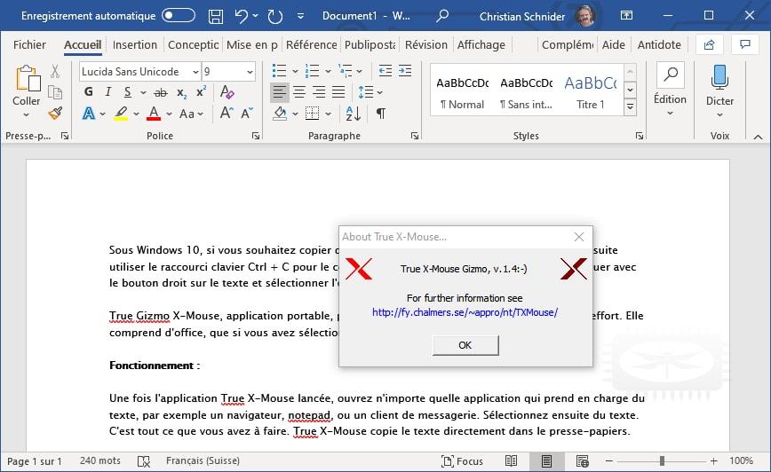 TXmouse - une autre manière pour le copier/coller sous Windows