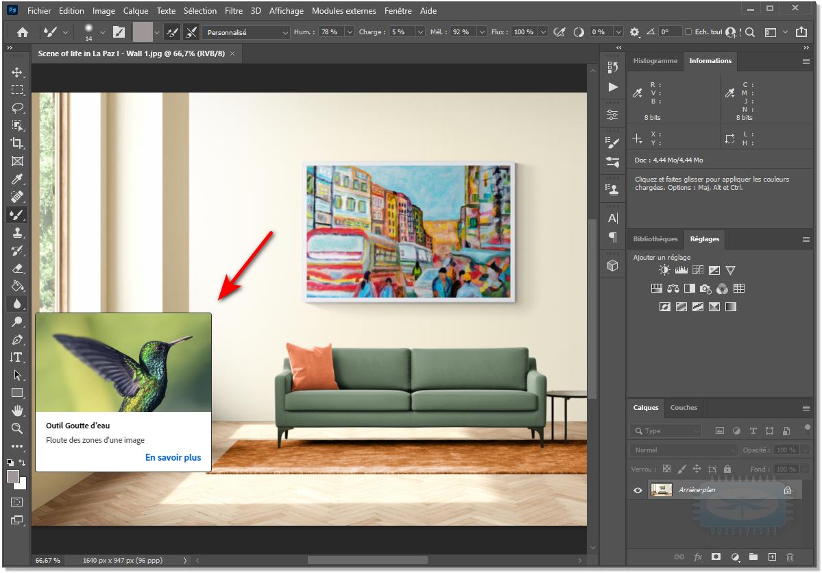 Désactiver infobulles riches dans Photoshop