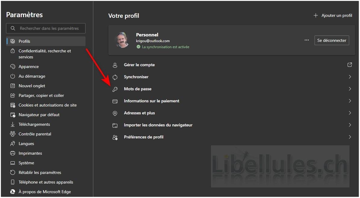 Comment récupérer les mots de passe stockés par Microsoft Edge