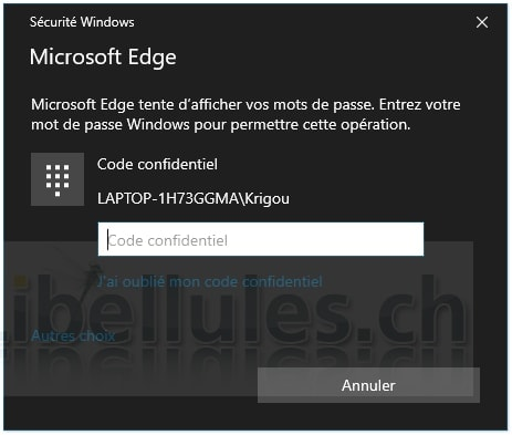 Edge Password
