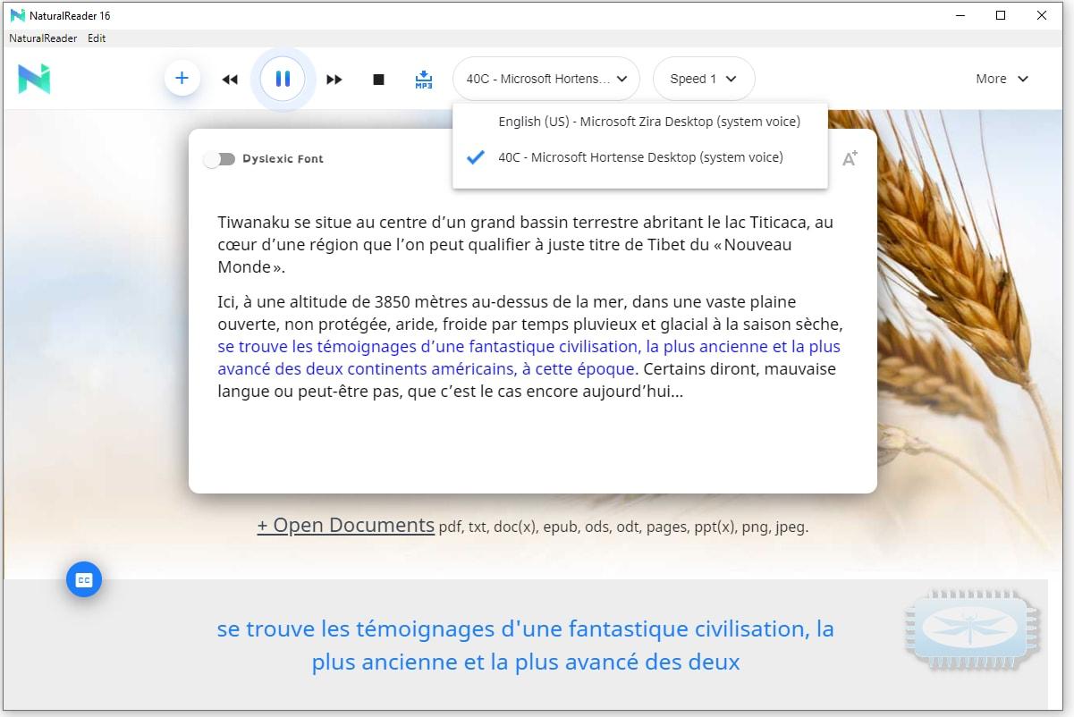 NaturalReader ou comment convertir du texte en langage parlé dans Windows 10