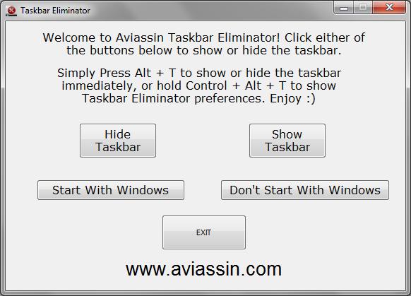 Taskbar Eliminator
