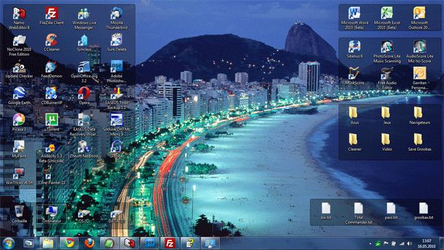 Thème Windows 7 - couleur Brésil
