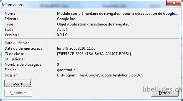blocage google analytics