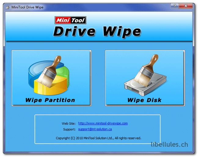 MiniTool Drive Wipe
