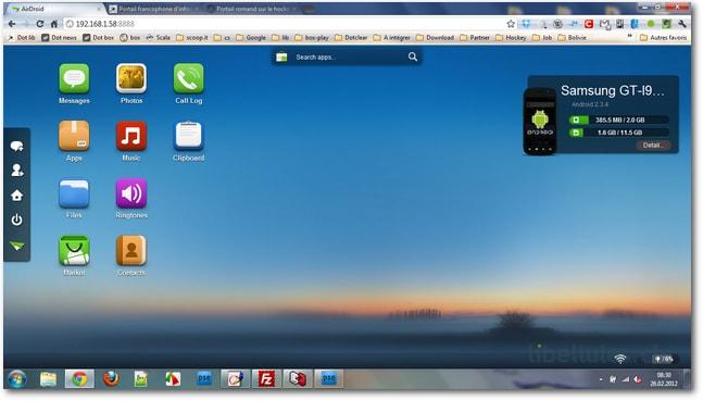 AirDroid - gérez vos appareils Android via votre réseau WIFI