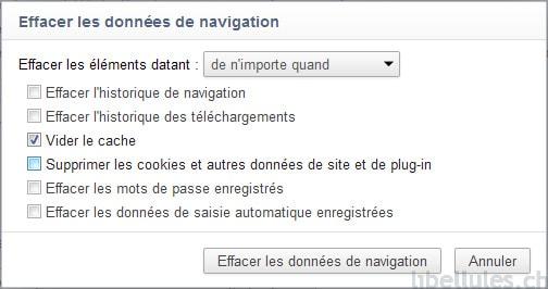Chrome - Effacer les données de navigation