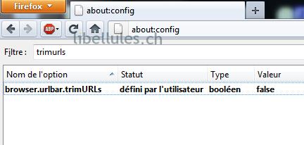 Restaurer le HTTP de la barre d'adresse de Firefox