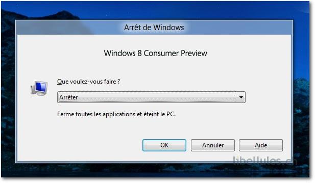Windows 8 - Comment arrêter Windows 8