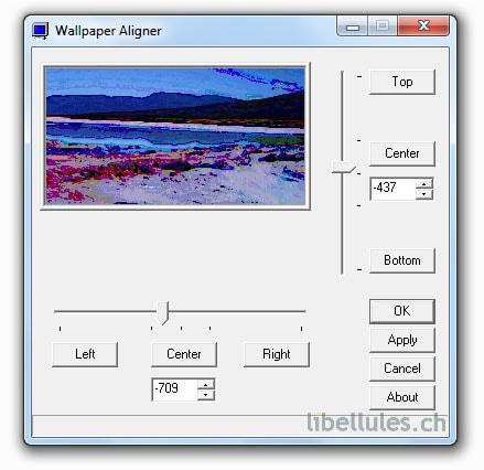 Aligner: Adjust Horizontal & Vertical Position Of Desktop Wallpaper
