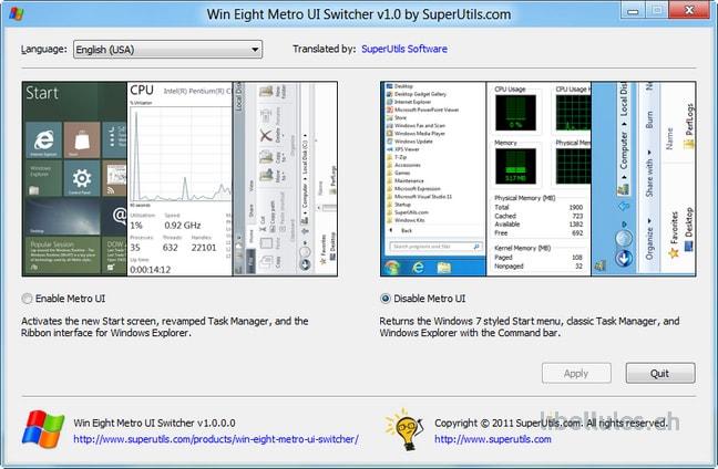 Win Eight Metro UI Switcher