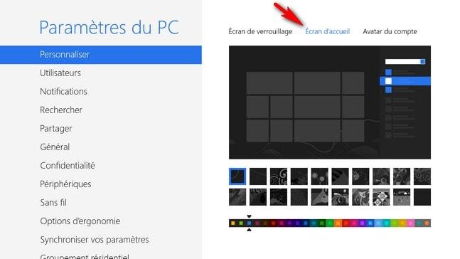 Comment Changer La Couleur Du Fond D Ecran Sur Laquelle S Affichent Les Tuiles De Windows 8 Libellules Ch