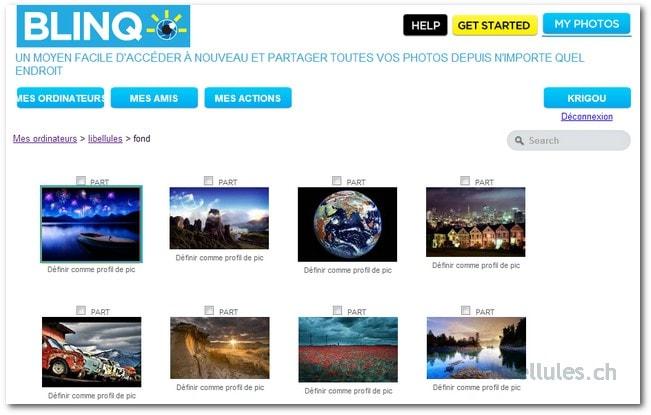 Blinq - partagez des images/photos stockées sur votre ordinateur