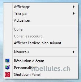 Shutdown Panel