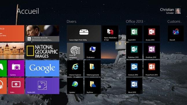 Metro Windows 8 - Créer et nommer des groupes de tuiles