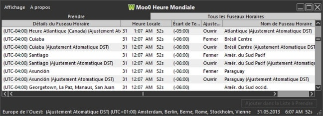 Moo0 Heure Mondiale (MooO World Time)