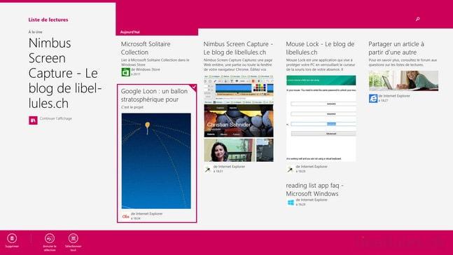 Windows 8.1 - Un logiciel de bookmarking intégré