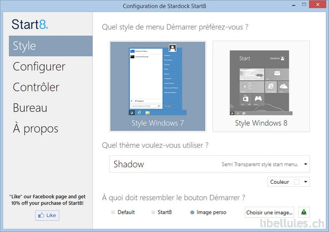 Start8 - Ajouter le menu Démarrer à Windows 8