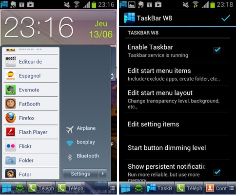 Taskbar - W8 style