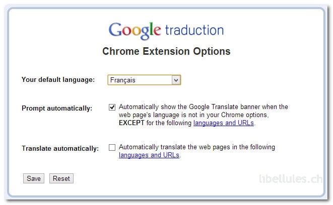 Google Translate pour Chrome