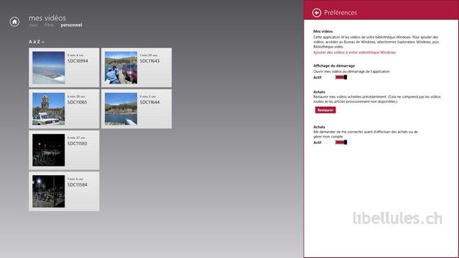 Windows 8 et Modern UI - Accédez rapidement à votre contenu multimédia