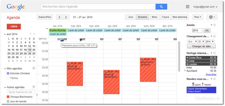Agenda Google - Personnalisez votre agenda