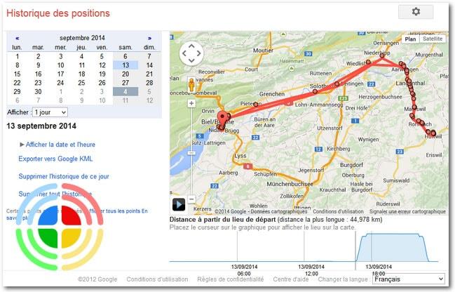 Google garde les traces de vos déplacements