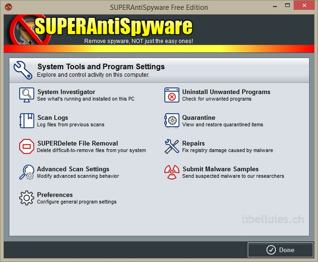 SUPERAntiSpyware Free Edition