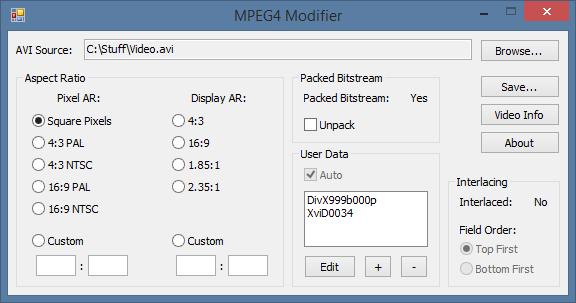 MPEG4 Modifier