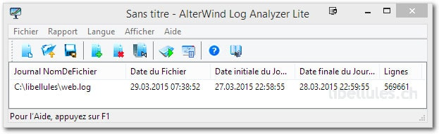 AlterWind Log Analyzer Lite