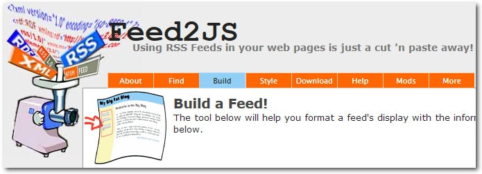 Feed2JS - afficher flux rss site