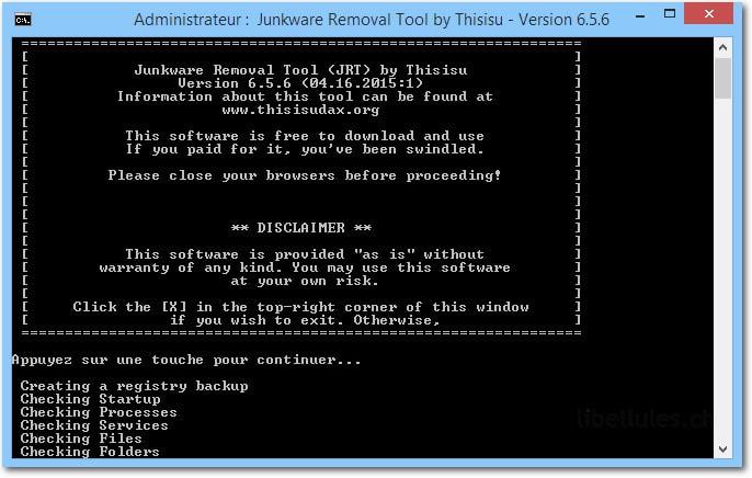 Junkware Removal Tool - JRT