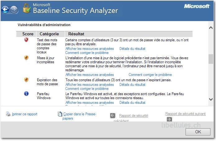 Microsoft Baseline Security Analyzer (MBSA)