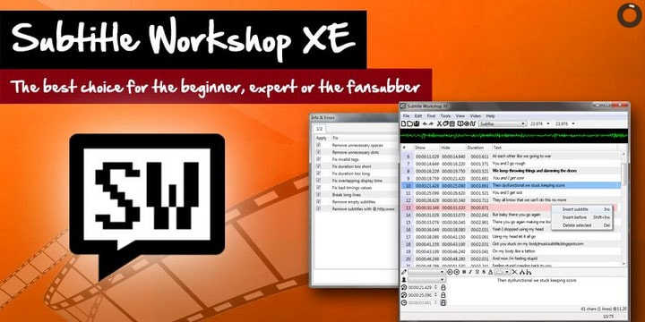Subtitle Workshop XE