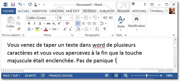 Mettre un texte tout en majuscule en minuscule en une pression de touches