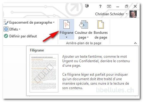 filigrane dans Word