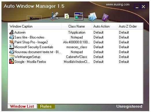 Auto Window Manager - gestion automatique des fenêtres