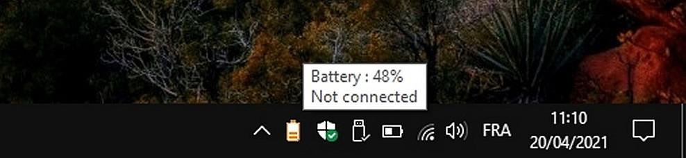 Battery Icons - des icônes de batterie codées par couleur