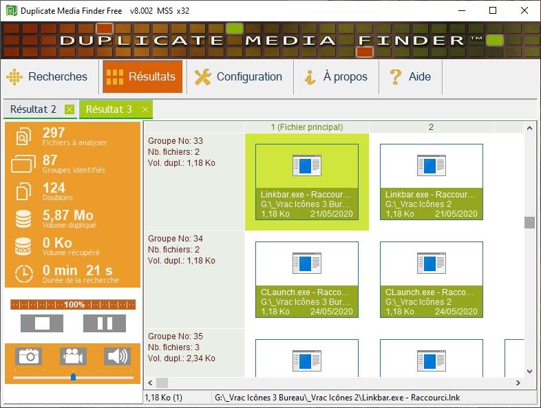 Duplicate Media Finder Free - à la recherche des doublons